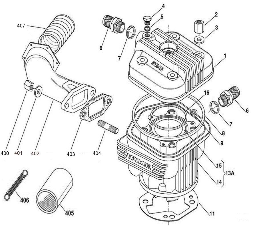 Iame X30 Engine Parts Top End Assembly