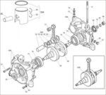 IAME X30 Engine Parts-Bottom End Assembly